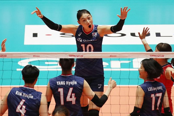 韩国女排闯入亚锦赛8强 稳获东京奥运会亚洲区预选入场券