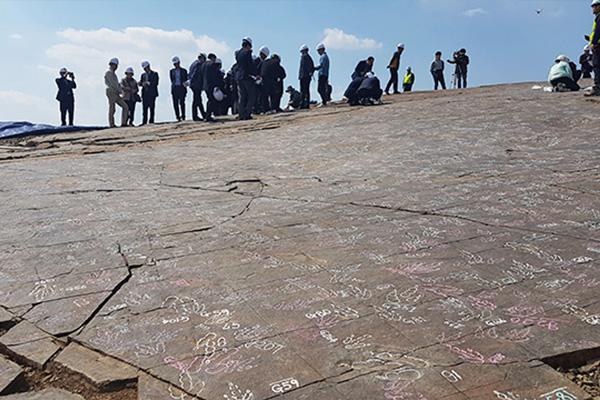 Bảo tồn nguyên trạng dấu tích chân khủng long ở thành phố Jinju