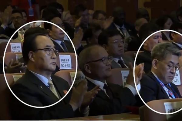 中国・北東アジア博覧会 南北の代表団長は会話せず