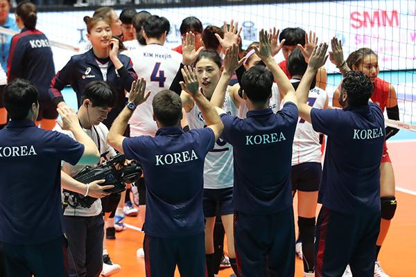 여자배구, 아시아선수권 8강서 대만 완파…4강 확정