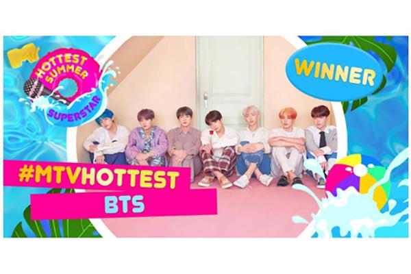 BTS von MTV UK zu heißestem Superstar 2019 gekürt