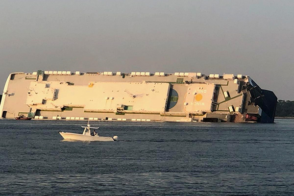 Cứu hộ thành công 4 thuyền viên người Hàn trong vụ tai nạn tàu biển ở Mỹ