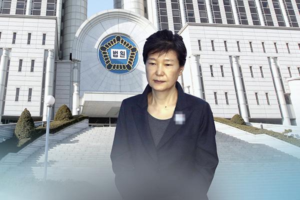 朴槿恵前大統領が入院手術へ 左肩に異常