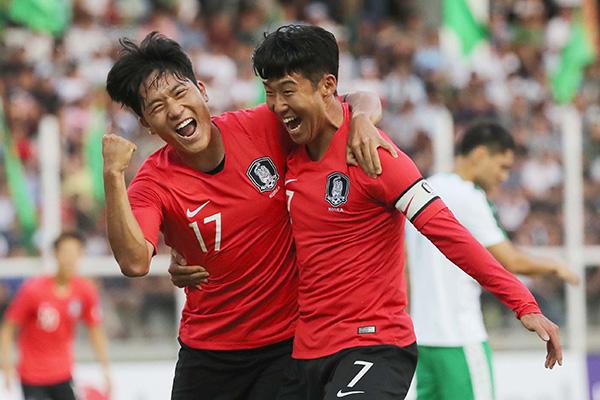 韩国队世界杯预赛亚洲区第二轮首战告捷