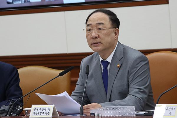 Hong Nam-ki estime que l'augmentation des emplois est un changement significatif