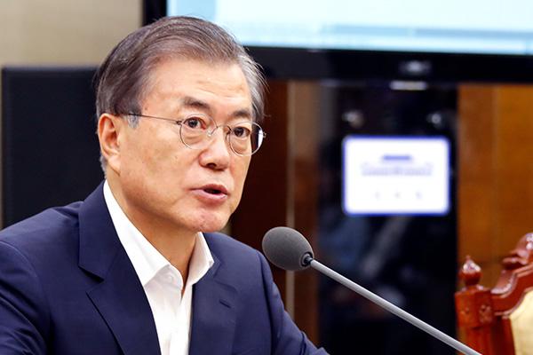 文大統領 韓米首脳会談を通じ、米朝対話の進展を支援