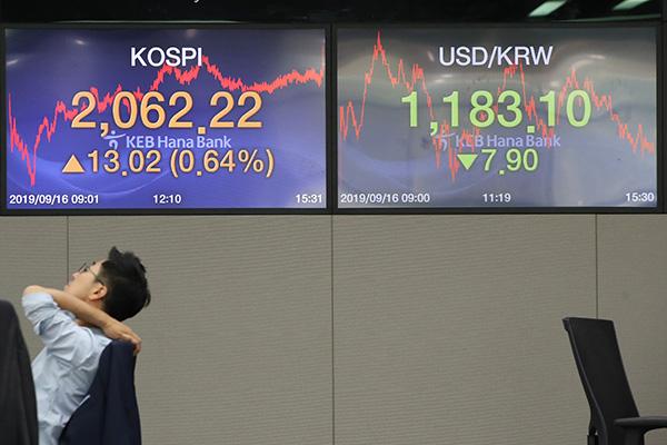9月16日主要外汇牌价和韩国综合股价指数