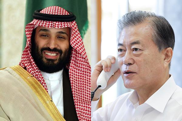 الرئيس مون يجري اتصالا هاتفيا بولي العهد السعودي