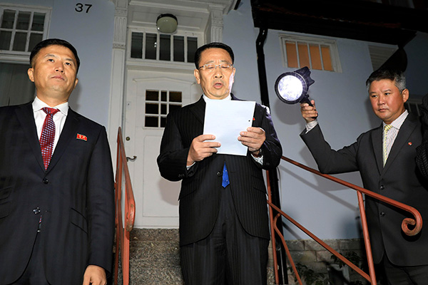 N. Korea's Chief Delegate Skeptical about Resuming Working-level Talks in 2 Weeks