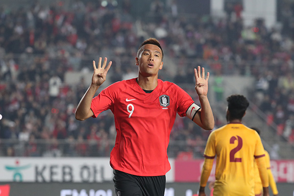 S. Korea Beats Sri Lanka 8-0 in World Cup Qualifier