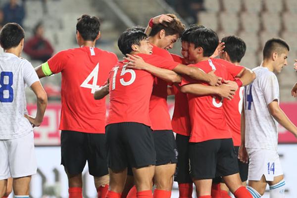 韓国男子サッカー グループリーグ1位で決勝トーナメント進出
