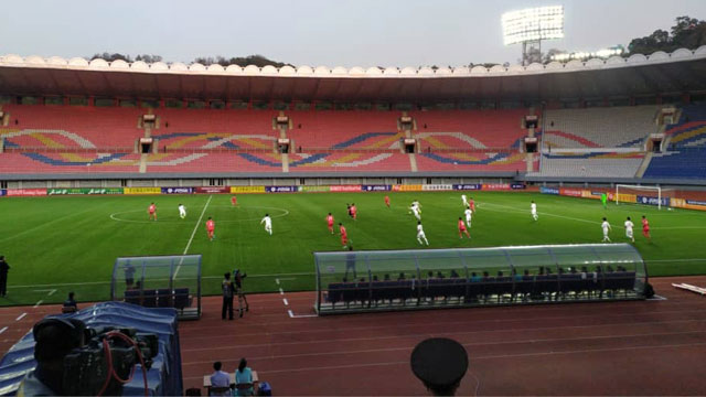 World Cup Qualifying Match Between the Two Koreas Taking Place in Pyongyang without Spectators