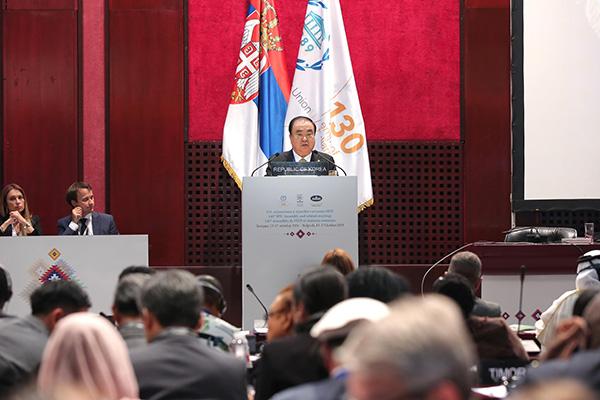 رئيس البرلمان الكوري يدعو العالم إلى دعم نزع السلاح النووي