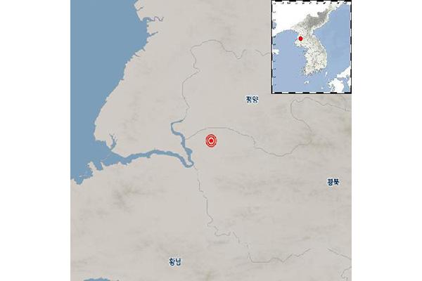 북한 황해북도 부근 지역, 규모 2.4 지진