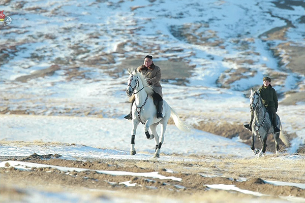 Foreign Media Speculate 'Policy Shift' after Kim Jong-un's Horseback Ride