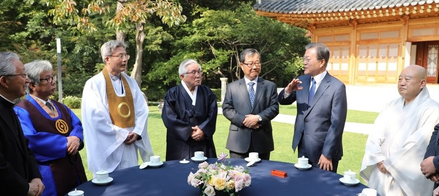 Moon Asks Religious Community to Play Bigger Role in National Cohesion