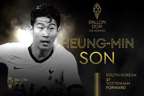 Son Heung-min Masuk Daftar Nominasi 30 Pemain Sepak Bola Peraih Ballon D'Or 2019