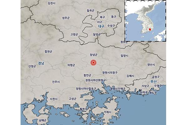 庆尚南道发生3.4级地震