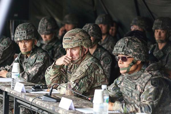 韓米合同空中演習 北韓非難に米国防総省「縮小実施」を強調