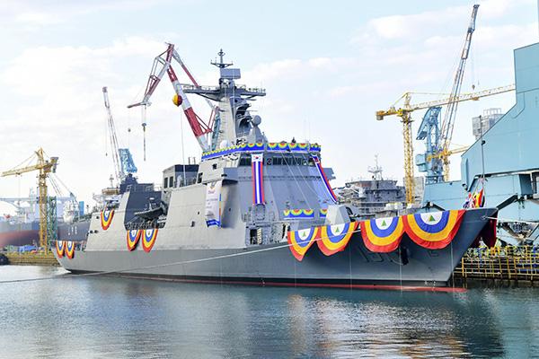 Hyundai Heavy Industries feiert Stapellauf von Fregatte für philippinische Marine