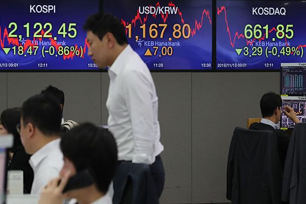 11月13日主要外汇牌价和韩国综合股价指数