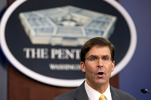 Esper: US Open to Adjusting Military Exercises with S. Korea to Support Diplomacy