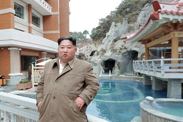 Kim Jong-un Makes Another Trip to Spa Resort Construction Site
