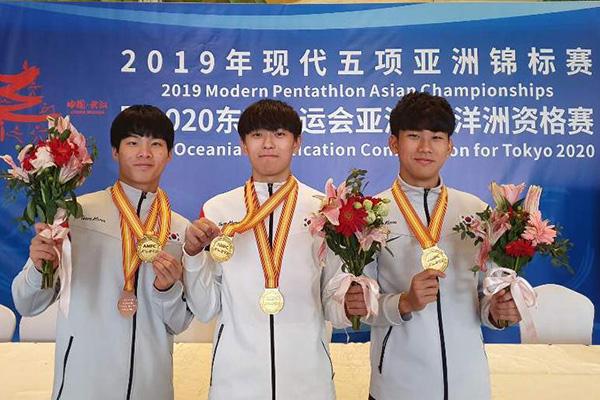 U19 近代五種競技アジア選手権大会で金メダル4つ獲得