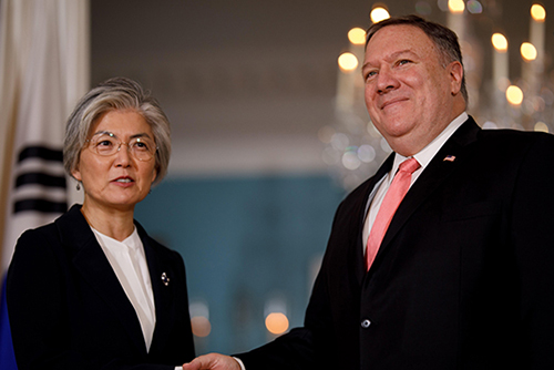 Kang, Pompeo Hold Phone Talks on GSOMIA, Defense Cost-sharing