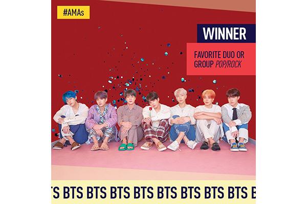 BTS连续两年斩获全美音乐奖