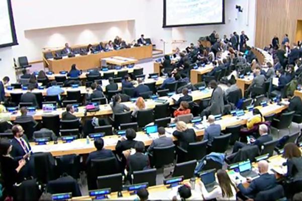 """联大第二委员会通过韩国主导的""""国际蓝天日""""决议案"""
