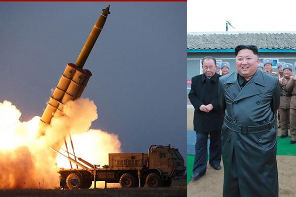 Kim Jong Un muestra satisfacción con el nuevo lanzacohetes