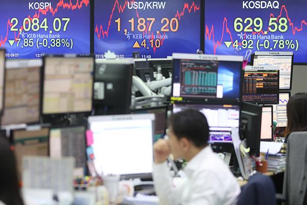 Bourse : retour dans le rouge