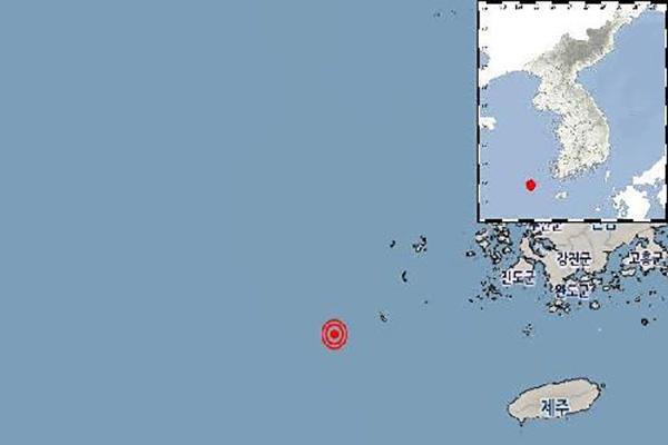 전남 신안군 부근 해역, 규모 2.6 지진