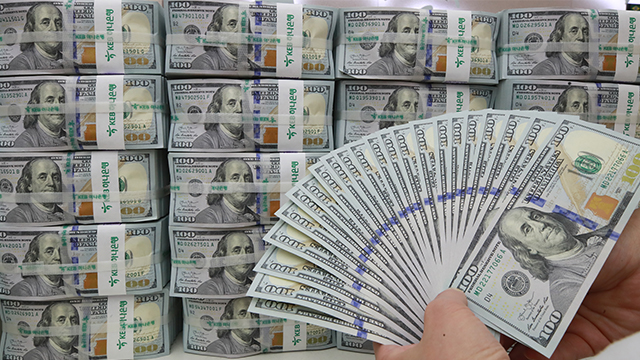 Объём южнокорейских валютных резервов достиг нового рекорда