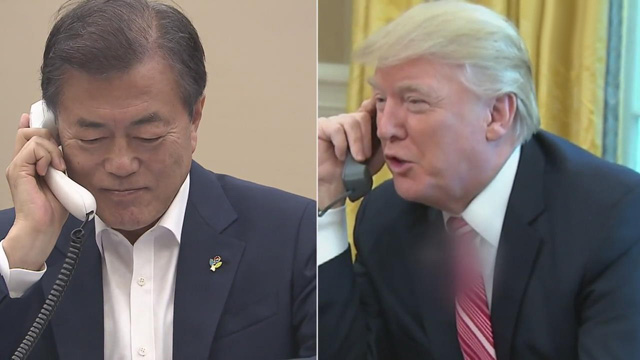 Moon, Trump Discuss Korean Peace Process in Phone Talks