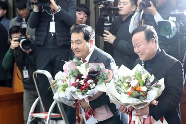 沈在哲当选自由韩国党新任国会代表