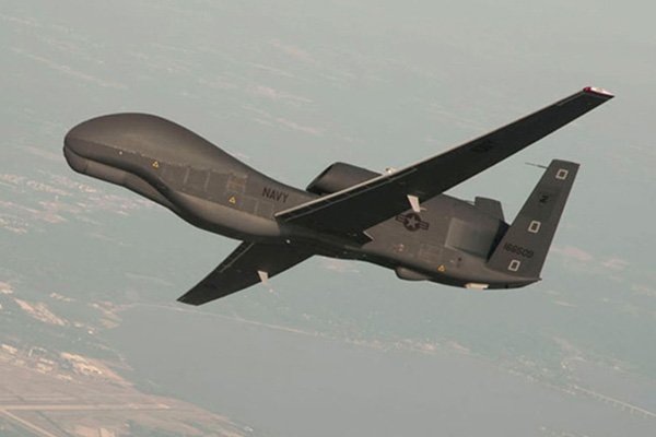US Global Hawk Flys over Korean Peninsula