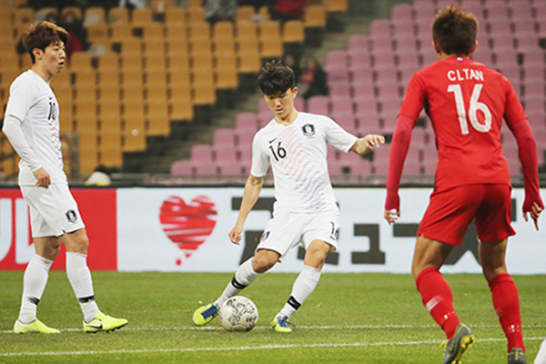 벤투호, 동아시안컵 1차전 홍콩에 힘겨운 승리