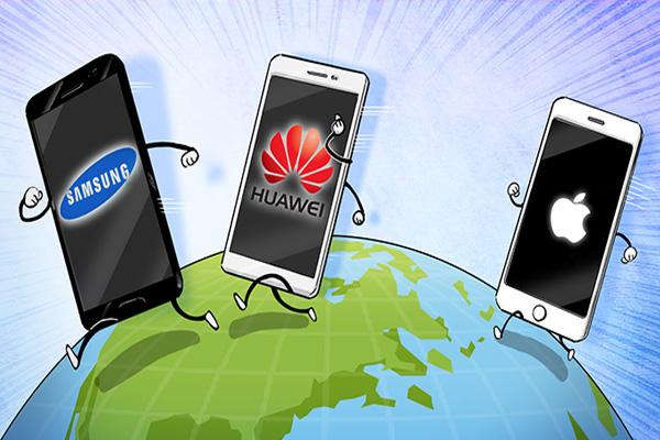 올해 삼성·화웨이 스마트폰 점유율 3%포인트 차로 좁혀져