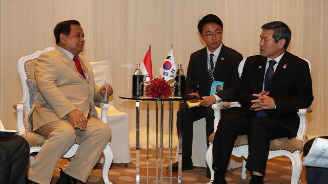韩国与印尼举行防长会谈 商定加强下一代战机等军工合作