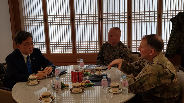 Deputy Security Adviser Holds Talks with USFK Commander