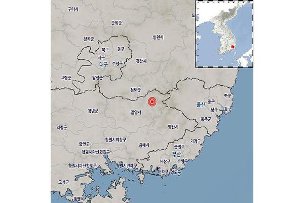 Động đất quy mô 3,5 độ richter tại thành phố Miryang rạng sáng 30/12