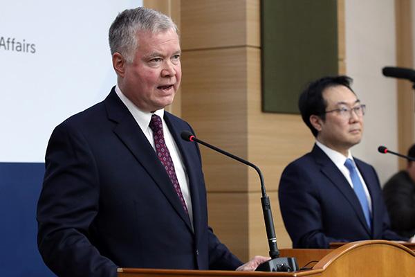 Trưởng đoàn đàm phán hạt nhân Hàn Quốc điện đàm với Đặc phái viên Mỹ