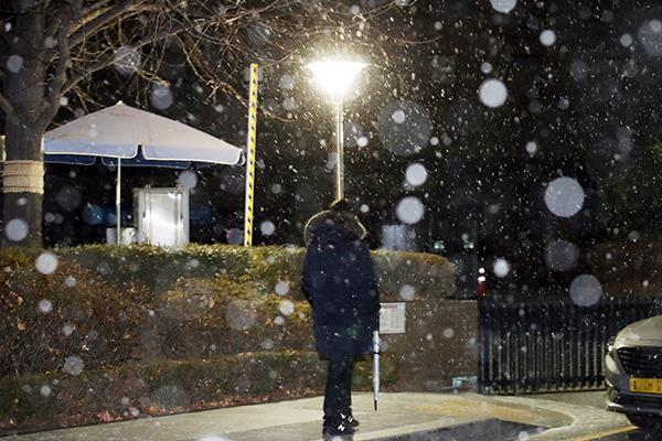 去年12月韩国积雪量创新低
