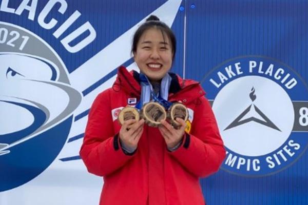Skeletonfahrerin Kim Eun-ji feiert Gesamtsieg bei North American Cup