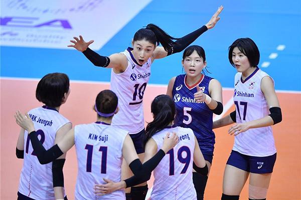韩国女排力克印尼队旗开得胜