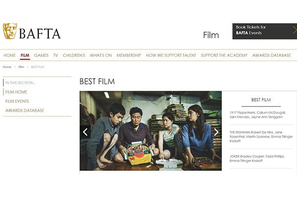 'Parásitos' suma cuatro nominaciones a los BAFTA