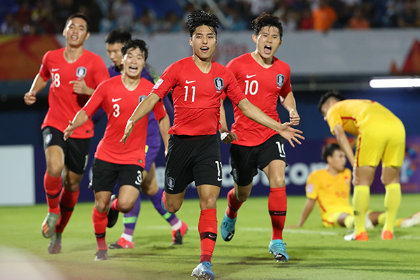 S. Korea Claims 1-0 Victory against China in Football Olympic Qualifier