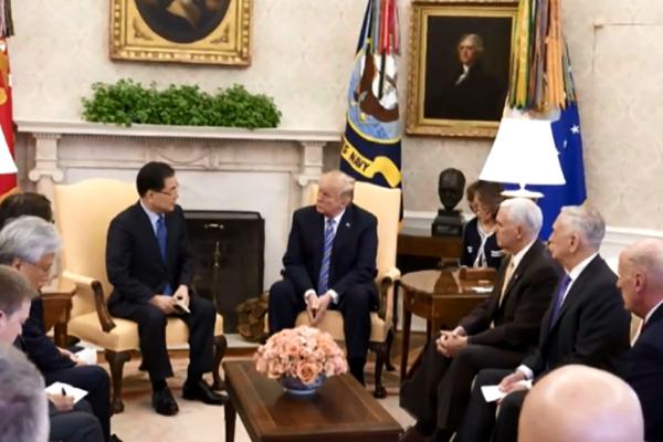Donald Trump rencontre le conseiller de Moon Jae-in à la sécurité nationale